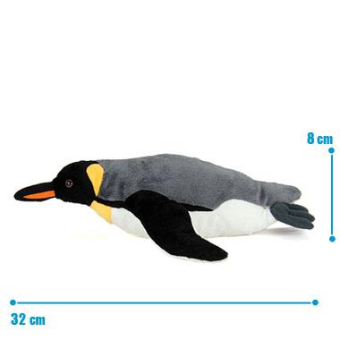 リアル 動物 生物 ぬいぐるみ キングペンギン 親 スイミング サイズ
