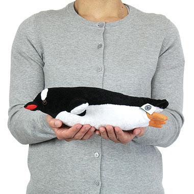 リアル 動物 生物 ぬいぐるみ ジェンツーペンギン 親 スイミング 大きさ