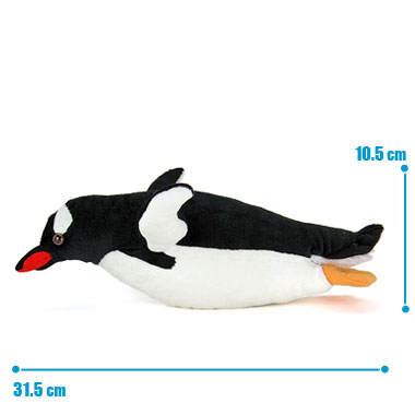 リアル 動物 生物 ぬいぐるみ ジェンツーペンギン 親 スイミング サイズ