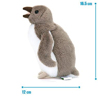 リアル 動物 生物 ぬいぐるみ イワトビペンギン ヒナ サイズ