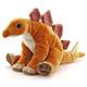 リアル恐竜ぬいぐるみ おすわりシリーズ ステゴサウルス 斜め