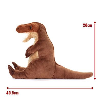 リアル恐竜ぬいぐるみ おすわりシリーズ  ティラノサウルス M サイズ