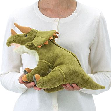 リアル恐竜ぬいぐるみ おすわりシリーズ  トリケラトプス M 大きさ