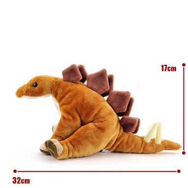 リアル恐竜ぬいぐるみ おすわりシリーズ ステゴサウルス サイズ