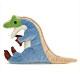 リアル恐竜ぬいぐるみ おすわりシリーズ アロサウルス 横