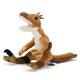 リアル恐竜ぬいぐるみ おすわりシリーズ ヴェロキラプトル 斜め