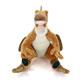 リアル恐竜ぬいぐるみ おすわりシリーズ ヴェロキラプトル 正面
