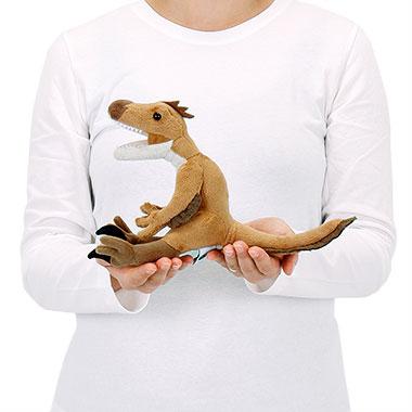 リアル恐竜ぬいぐるみ おすわりシリーズ ヴェロキラプトル 大きさ