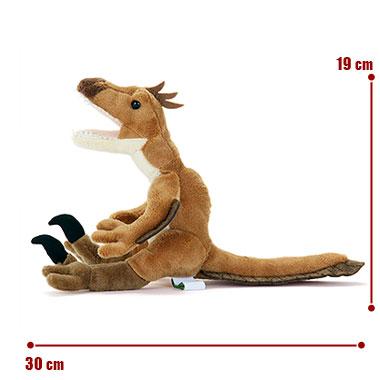リアル恐竜ぬいぐるみ おすわりシリーズ ヴェロキラプトル サイズ