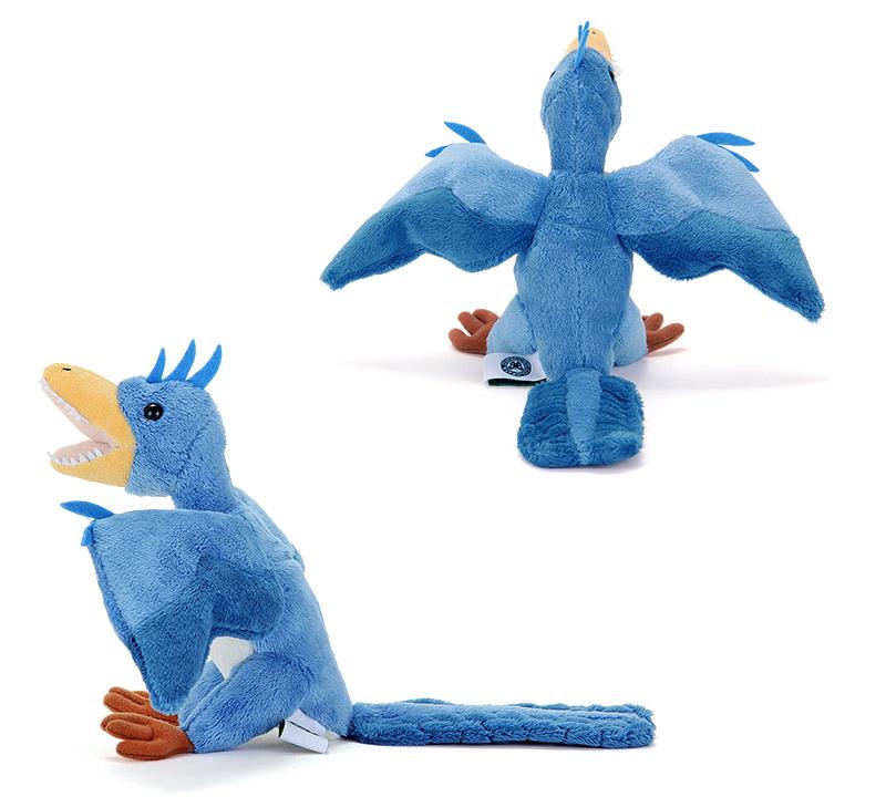 リアル恐竜ぬいぐるみ おすわりシリーズ アーケオプテリクス(始祖鳥)