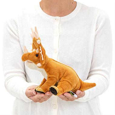リアル恐竜ぬいぐるみ おすわりシリーズ スティラコサウルス 大きさ