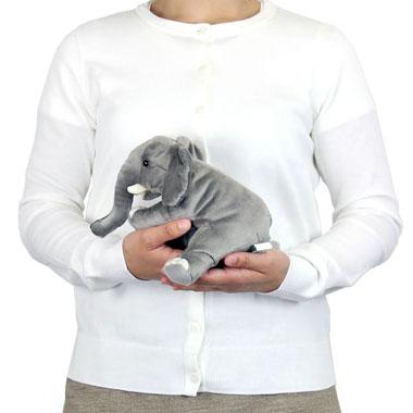 リアル 動物 生物 ぬいぐるみ おすわりシリーズ アフリカゾウ 大きさ