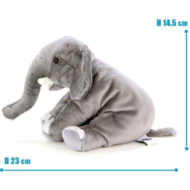 リアル 動物 生物 ぬいぐるみ おすわりシリーズ アフリカゾウ サイズ