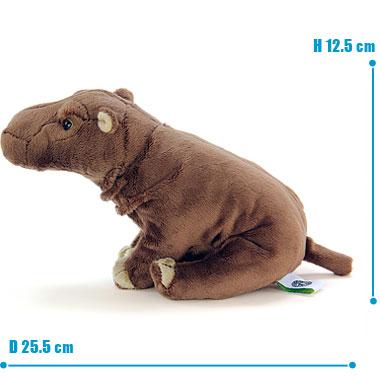 リアル 動物 生物 ぬいぐるみ おすわりシリーズ カバ サイズ