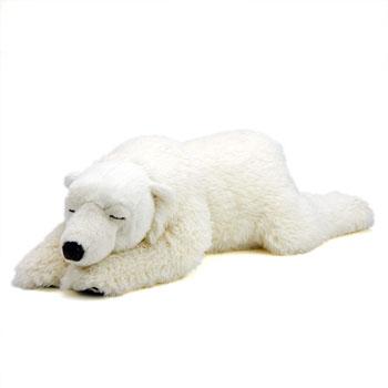 リアル動物ぬいぐるみ おやすみシリーズ ホッキョクグマ スリーピング 親熊