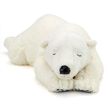 リアル動物ぬいぐるみ おやすみシリーズ ホッキョクグマ Lサイズ スリーピング