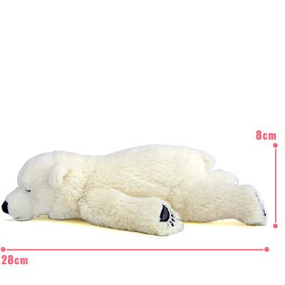 リアル動物ぬいぐるみ おやすみシリーズ ホッキョクグマ スリーピング 子 サイズ