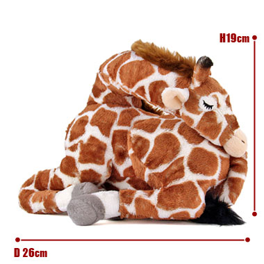 リアル動物ぬいぐるみ おやすみシリーズ キリン スリーピング サイズ