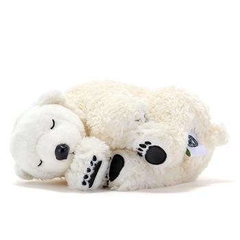 リアル動物ぬいぐるみ おやすみシリーズ ホッキョクグマ スリーピング 子 横向き