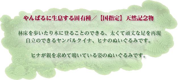 リアル 動物 生物 ぬいぐるみ ヤンバルクイナ ヒナ 商品特徴