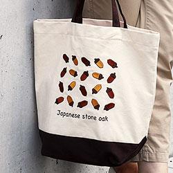 刺繍トートバッグ ボタニカルカラーズ マテバシイ