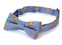 蝶ネクタイ 子供用 メンダコ 小紋 グレーブルー