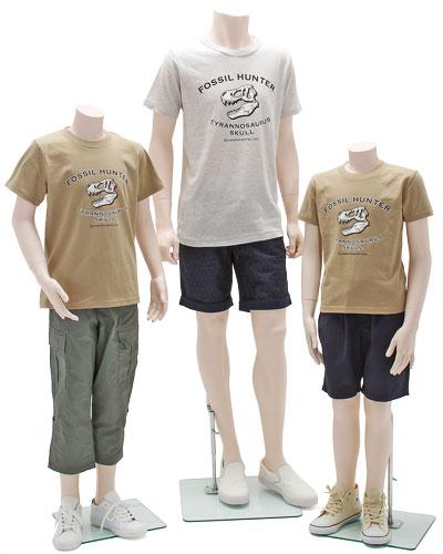 ミュージアムデザイン Tシャツ ティラノサウルス頭骨 着用イメージ