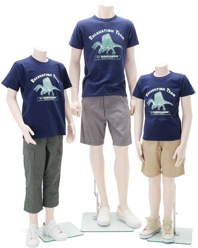ミュージアムデザイン Tシャツ スピノサウルス 着用イメージ