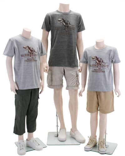 ミュージアムデザイン Tシャツ 羽毛ティラノサウルス 着用イメージ