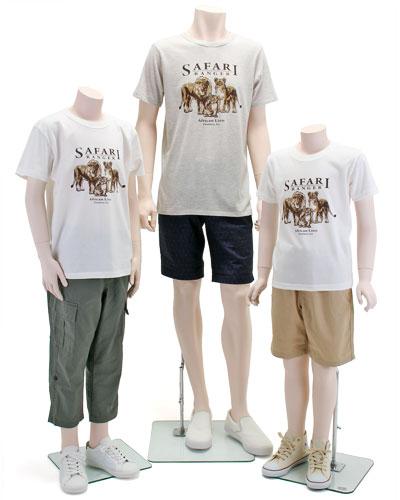 ミュージアムデザイン Tシャツ ライオン親子 着用イメージ