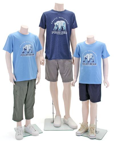 ミュージアムデザイン Tシャツ ホッキョクグマ 着用イメージ