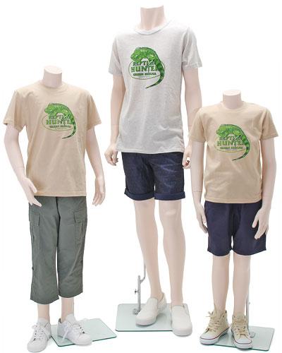 ミュージアムデザイン Tシャツ グリーンイグアナ 着用イメージ