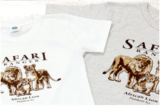 ミュージアムデザイン Tシャツ ライオン親子
