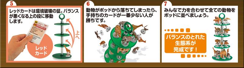 生態系バランスゲーム アニマルポッドの遊び方2