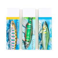 淡水魚 消しゴム3個セット