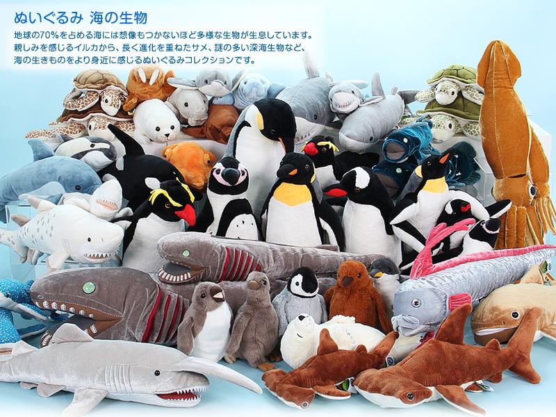 リアル動物ぬいぐるみ 海の生物
