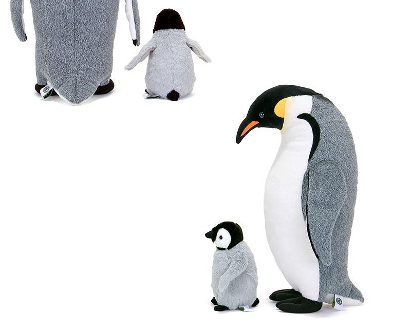ぬいぐるみ エンペラーペンギン 親スタンディングとヒナ