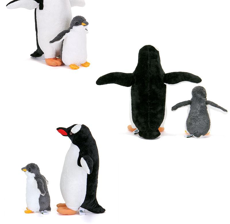 ぬいぐるみ ジェンツーペンギン 親スタンディングとヒナ