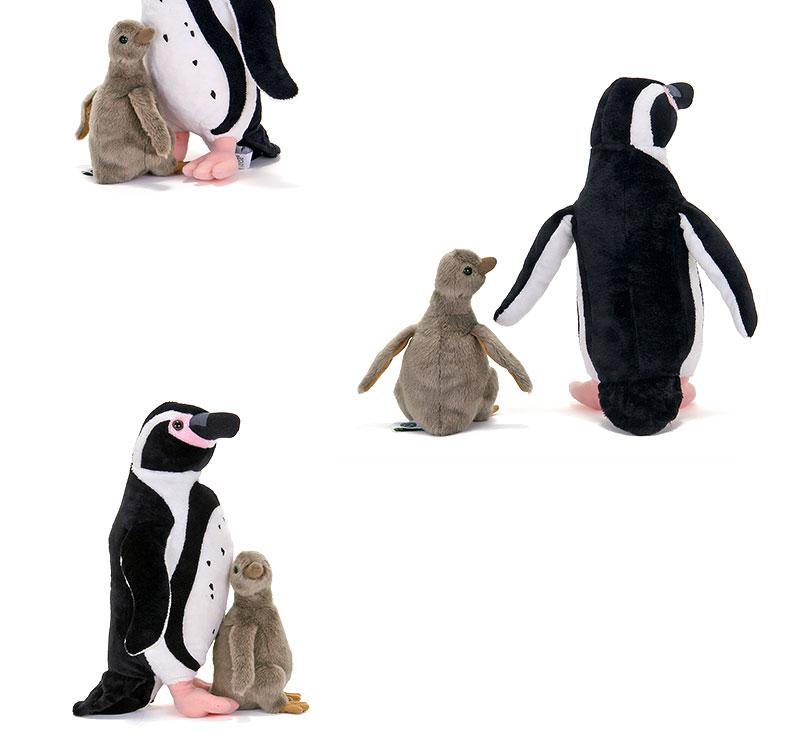 ぬいぐるみ フンボルトペンギン 親スタンディングとヒナ