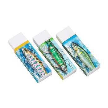 消しゴム3個セット 淡水魚