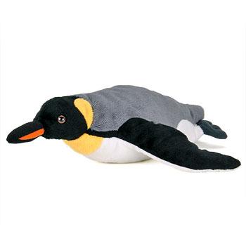 ぬいぐるみ リアルペンギンファミリー キングペンギン 親 スイミング