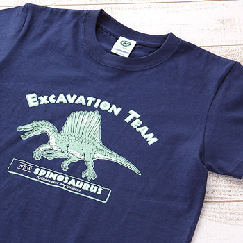Tシャツ スピノサウルス ネイビー 130サイズ