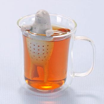 アニマル 茶こし ゴマフアザラシ